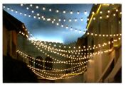 New Custom Outdoor 50and039 String 40-light Kit Incand 11s14 Bulbs Any Color Party