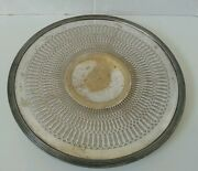 Vintage Poole Silver Co 8530 Round Pierced 10-1/4 Nickel Silver Tray-used