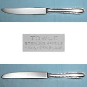 Towle Sterling New French Hollow Knifes Silver Flutes No Mono