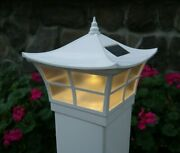 5x5 And 4x4 White Ambience Style Pvc Solar Post Cap Led Deck Fence Lights 12 Pack