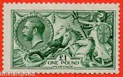 Sg. 404. N72 3. Andpound1.00 Blue Green. A Fine Lightly Mounted Mint Example.