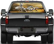 Galloping White Horses Rear Window Graphic Decal Sticker Car Truck Suv Van 316