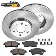 Front Brake Rotors Replacement And Ceramic Brake Pads For Chevy Cruz Sonic
