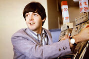 Paul Mccartney The Beatles By Vintage Slot Machine 11x17 Inch Poster