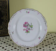 Collectors Cabinet Plate Delicate Antique Flowers In Three