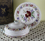 Collectors Cabinet Plate And Entree Dish And Cover Cornflower By Wedgwood