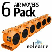 6 Pack Soleaire Orange Max Storm Air Mover Carpet Floor Blower Fan Water Damage