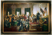 Christy Signing Of The Constitution Of The United States - Brown Framed 23x34