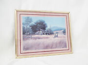 Barn Landscape By Gene Speck-matted, Framed And Signed-14 X 11 Print
