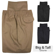 Big And Tall Menand039s Falcon Bay Casual Twill Pants Full Elastic Waist Sizes 42 - 70
