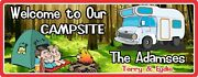 Campsite Sign Welcome Custom Name Sign Tent Funny Camping Signs Campfire Decor