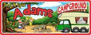 Funny Camping Signs Cartoon Campground Sign Personalized Glamping Hanging Decor