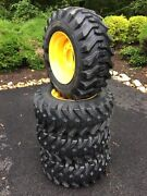 4 New 12x16.5 Tires And Rims For New Holland, John Deere, Gehl, Mustang 12-16.5