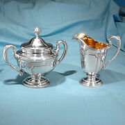 Towle Sterling 2-piece Set Creamer And Covered Sugar Louis Xiv Mono K