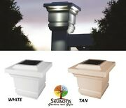 4x4 Classy Solar Post Cap Led Deck Fence Lights Tan Or White 12 Pack