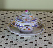 Collectorand039s Cream Soup Cup Lid And Saucer Historic Pattern