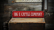 Custom Cattle Company Sign - Rustic Hand Made Distressed Wood