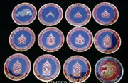 Usmc Marine Corps 11 Enlisted Rank Challenge Coin Lot