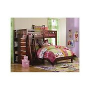 Twin Over Full Bunk Bed Storage With Ladder Bookshelves Drawers Modern L Shape