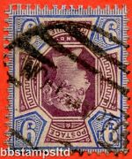 Sg. 209 Wi. K38 1 A. 9d Dull Purple And Blue. Inverted Watermark. A Good Used.