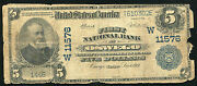 1902 5 First National Bank Of Oswego Ks National Currency Ch. 11576