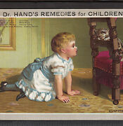 Dr Hand's Teething Children Colic Tooth Remedy Cure Cat Advertising Trade Card