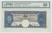Commonwealth Of Australia 5 Pound Pick 27a Dated 1939 Pmg 30 Very Fine