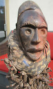 Large Vintage Carved Wood African Tribal Nail Fetish Statue Congo