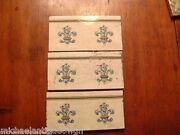 3 Antique English MAW & Co. Art Pottery Architectural Tiles