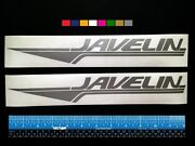 2 Two Javelin Boats Marine Hq Decals 12 - Silver Metallic + More