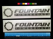 2 Two Fountain Powerboats Marine Hq Decals 12 - Silver Metallic + More