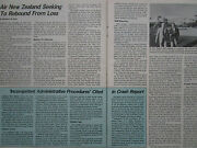 7/1981 Article 3 Pages Air New Zealand Airlines Airways Boeing 747 737-200