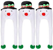 Snowman Hats Packs Plush Winter Xmas Party Hat With Jingle Bells Christmas Lot