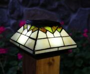 10 Pack Wellington Solar Post Cap Led Deck Fence Lights Stained Glass 5x5 And 4x4