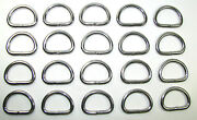 191830 Sea-dog Line 20-pack Stainless Steel D-ring 3/16 X 1-1/16 132-1183