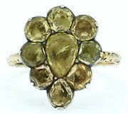 A Stunning 10ct Golden Topaz Pear Shaped Cluster Ring Circa 1760andrsquos