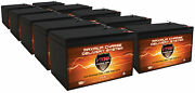 Qty10 Vmax V15-64 F2 Sla Battery For Wagan 600 Amp Replaces Power-sonic