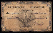 France French Assignats P-a73 400 Livres 1792
