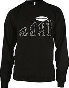 Evolution Of Man - Stop Following Me Funny Humor Long Sleeve Thermal