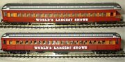 N Scale Trains Model Power 2 Circus Worlds Largest Shows Passenger Cars New