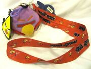 Rovio Thick Red Angry Birds Lanyard Id Holder Keychain With 3 Plush+charm-new