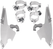 Memphis Shades Polished Trigger Lock Mounting Brackets 06-17 Harley Dyna Fxcw