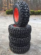 4 New 12-16.5 Skid Steer Tires/rims For Bobcat A300a770s750s770s740