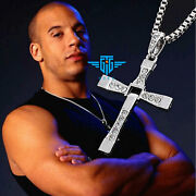 Cross Pendant Necklace Silver Stainless Steel Unisexand039s Chain Crucifix Men Women