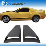 Fit 05-14 Ford Mustang Pu Side Window Louvers Cover Eleanor Style Rain Sun Guard