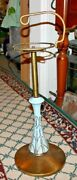 Vintage Floor Standing Astray With Carrying Handle Odd Lamp Base Center