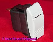 3 Pos 4 Terminal Lighted Spdt Carling Contura Rocker Switch Mom-on/off/on 13011