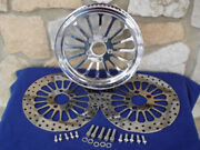 65t 1 1/8 Spoke Pulley And Rotors W/bolts Parts For Harley 2000-up