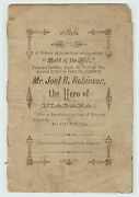 Xrare Only 1 Known - Hero Robinson Maid Of The Mist Niagara Falls 1862 Pamphlet