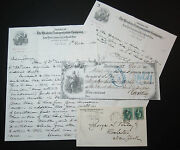 Western Transportation Co Ny Central Railroad Cover Bank Check Letters 1879